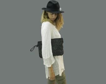 SALE! Black Leather clutch Leather purse Black clutch Evening bag Leather purse clutch purse Clutch bag Evening clutch wristlet