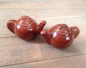 Brown Teapot Salt and Pepper Shakers, Teapots, Salt and Pepper Shakers, Tea Lover Kitchen, Collection