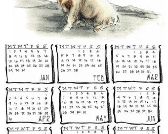 Clumber Spaniel 2018 yearly calendar