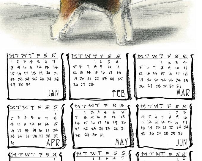 Wire Fox Terrier yearly calendar