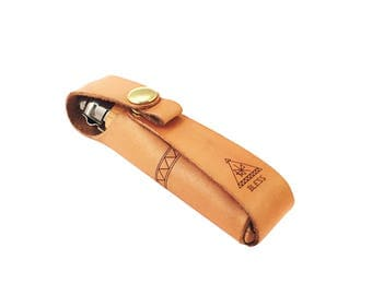 Handcrafted Leather Knife Sheath for Opinel No.08 / Handstitched Leather Knife Sheath / Opinel #8 sleeve / Handcrafted in Portland, Oregon.