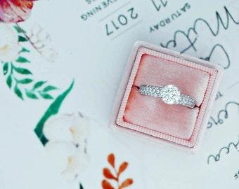 Engagement Ring 3.29 Carat Round Diamond Engagement ring 18K white gold FREE SHIPPING