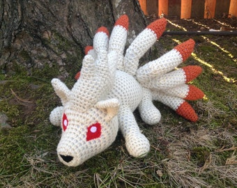 Pokemon Inspired: Ninetails Amigurumi (Crochet Plushie/Plush Toy) in Normal or Shiny colors! MADE TO ORDER!
