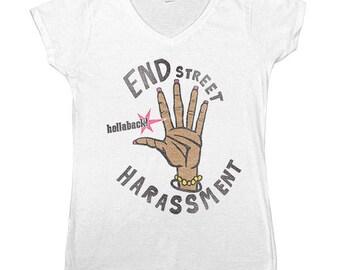 End Street Harassment -- Women's V-Neck