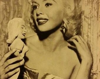 Original 1950's Jayne Mansfield 5x7 Black And White Movie Photo Photograph