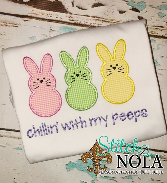 Chillin' with my Peeps Bunny Shirt, Gown or Bodysuit-Boy or Girl