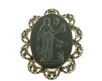 Black Cameo Pin/Pendant