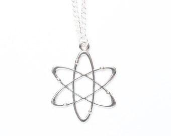 Atom Necklace | Science Necklace | Atom Jewellery | Scientist Jewellery | Atom Charm