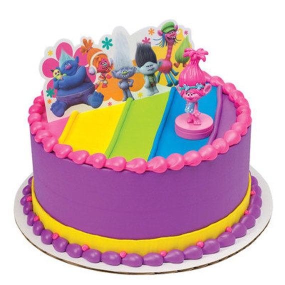 Items Similar To Trolls Birthday Cake Topper/ Poppy Troll Cake Kit/ Trolls Birthday Cake Kit