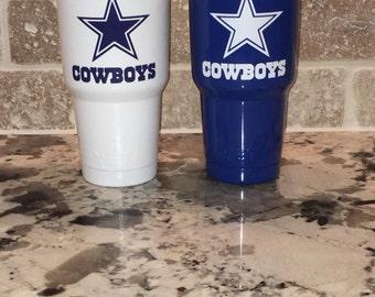 Blue or White 30 oz Yeti Rambler Tumbler / Dallas Cowboys