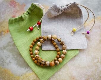 Wood Jasper Bracelet,Beaded Bracelet,Brown Bracelet,Gemstone Jewelry,Gemstone Bracelet,Jasper Bracelet,Stone Bracelet,Mens Gemstone Bracelet