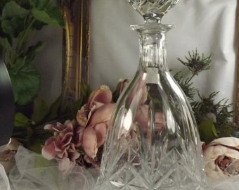 Decanter, Thomas Webb Crystal, Bell Shaped Unused, Excellent