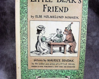 1960 Little Bear's Friend - Hard to find Paperback version - illustrated by Maurice Sendak - by Else Holmelund Minarik