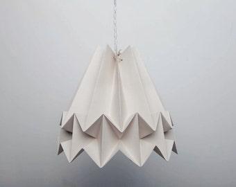 Mushi Lamp Cloudy / origami paper lampshade