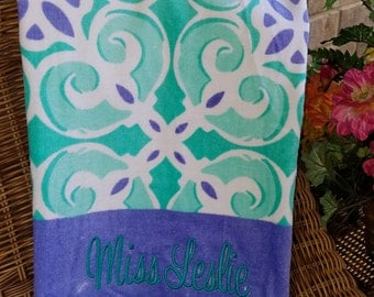 Monogrammed Beach Towel -----   NEW  FOR SPRING------Special Buy---Great Price!!