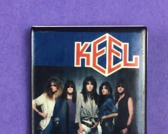 Keel Metal Band Original 1980s Vintage Dead Stock Square Pin