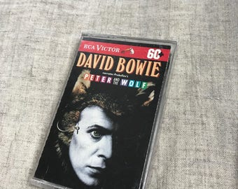 Vintage David Bowie Cassette Tape David Bowie Narrates Prokofiev's Peter And The Wolf 1992