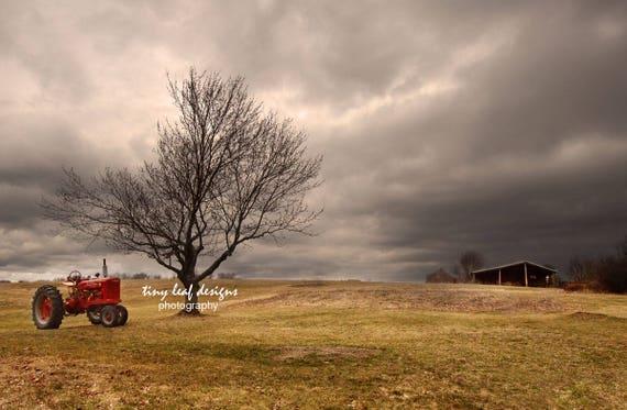 Farmall M Tractor Farm 5x7 8x12 11x16 Fine Art Photograph