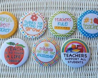 Set of Teacher Buttons or Magnets