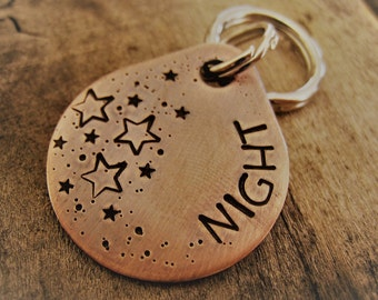 Pet ID Tag - Personalized Dog Tag - Dog Collar Tag - Engraved Dog Tag - Handsatmped Pet Tag