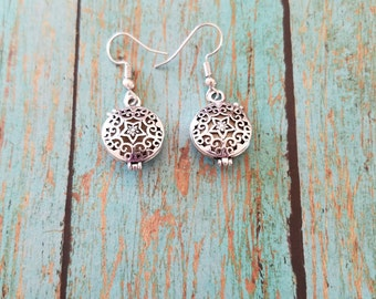 Silver diffuser earrings, Diffuser earrings, Essential oil diffuser, Earrings, Jewelry, Accessories, Essential oil diffuser earrings,