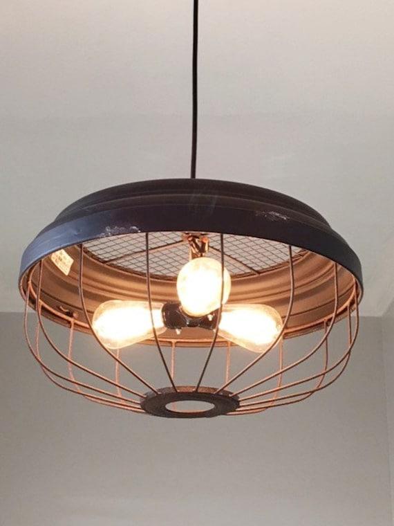 Kitchen Pendant Lighting Metal : Industrial bulb metal pendant light ceiling rustic