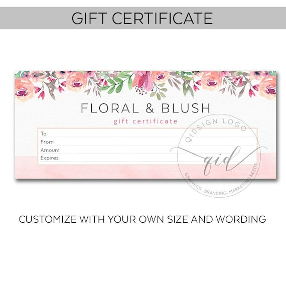 Printable gift certificate voucher template promotional for Full page gift certificate template