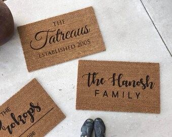 Housewarming Gift - Closing Gift - Custom Doormat - Personalized Welcome Mat - New Home Gift - Unique Wedding Gift
