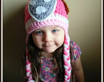 Paw patrol hat,crochet hat,skye paw patrol hat,pink paw patrol hat,pink puppy hat,girl paw patrol,paw patrol costume,paw patrol inspired,hat