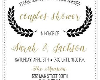 Italian Style Couples Shower Invitation