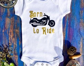 Born to Ride Onesie, Motorcycle Onesie,