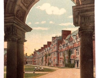 University of Pennsylvania, Vintage Postcard, Dormitories, Philadelphia PA, 1915, Old Penn Postcard