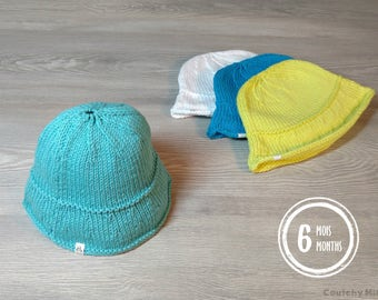 Baby knit beanie baby sun hat baby hat baby boy beanie baby knit hat baby gift newborn gift baby shower gift knitted beanie KH01/09