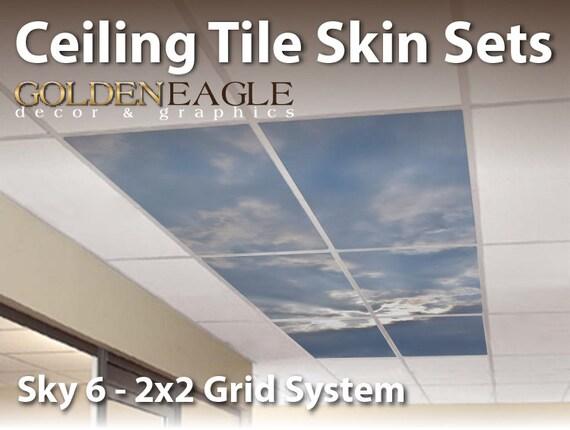 Ceiling Tile Skin Kit 2x4 Grid Glue Up Decorative Panel Cover