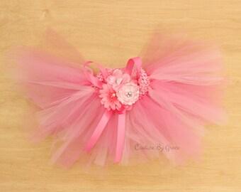 Pink Tutu Set, Baby Tutu, Newborn Tutu, Flower Girl Tutu, Tutu Skirt, Birthday Tutu, Baby Pink Tutu, Princess Tutu, Newborn Prop Infant Tutu