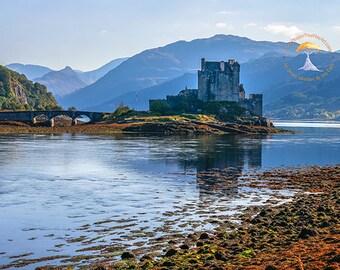 scotland photography, eilean donan castle, scottish highlands, scotland art, outlander, historic scottish castles, uk landscape photography