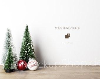 CHRISTMAS MOCKUP 6000x4000 Pixel / Santa Claus and christmas balls / Merry Christmas Mockup / Merry Xmas Mockup / Santa Claus Mockup