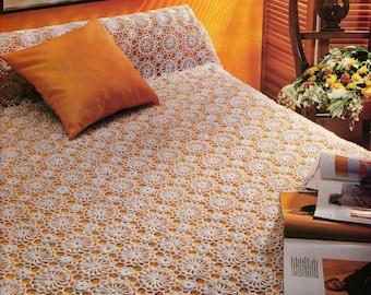 Bedcover patchwork crochet pattern PDF digital