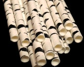 Tree straws, Lumberjack party decorations, Birch trees, white bark, woodland wedding, supplies, hiking, camping, outdoors theme, 10CT