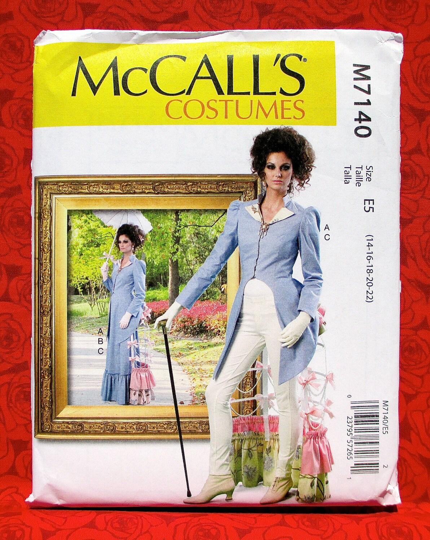 Mccalls costume sewing pattern m7140 tailcoat jacket long skirt mccalls costume sewing pattern m7140 tailcoat jacket long skirt bustle tournure steampunk victorian plus sizes 14 16 18 20 22 uncut jeuxipadfo Images