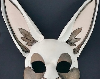 White Rabbit Mask Ornate Bunny Mask White Hare Mask