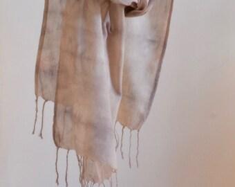 Natural Dye Organic Cotton Scarf - 35 x 150 cm - C1C006