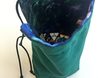 Galaxy Space Dice Bag