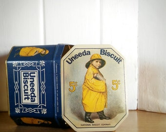 Vintage Uneeda Biscuit Tin 5 cent Tin, Vintage Biscuit Tin Uneeda
