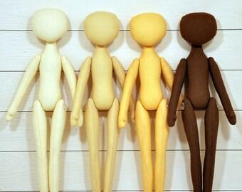 """4 Blank doll body-14,5"""",blank rag doll, ragdoll body,the body of the doll made of cloth"""