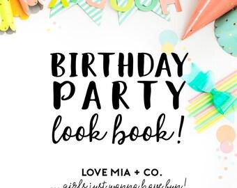 BIRTHDAY PARTY Look Book | Love Mia + Co. Hair Tie Favors for Girls Birthday Parties, Party Favor Inspiration for Kids Girls Tweens Teens