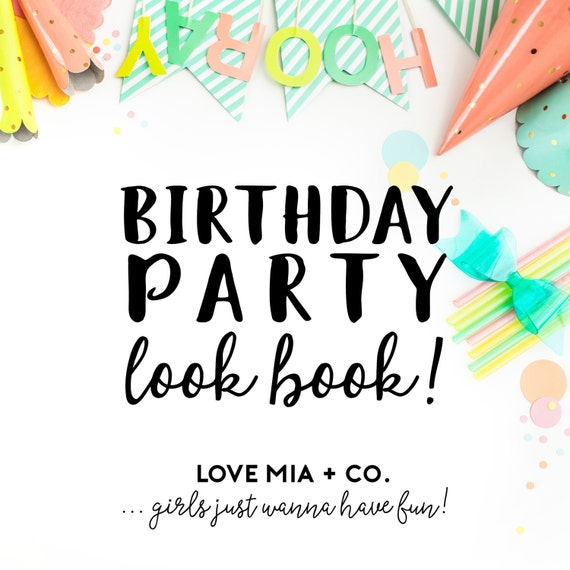 Items Similar To BIRTHDAY PARTY Look Book