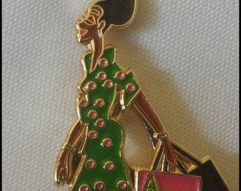 Alpha Kappa Alpha Lady Diva Lapel Pin