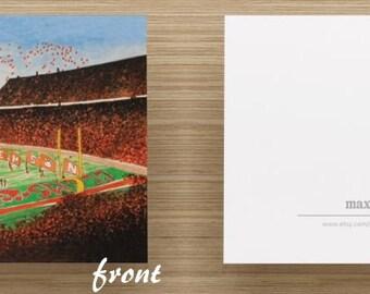 "Stationery Set - Clemson Memorial Stadium, ""Death Valley"" Blank Folded Cards"