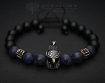 Elven Helmet Bracelet, Mens Bracelet, Elven Bracelet, Elven Jewelry, Helmet charm , Mens Jewelry, Elven Warrior Helmet
